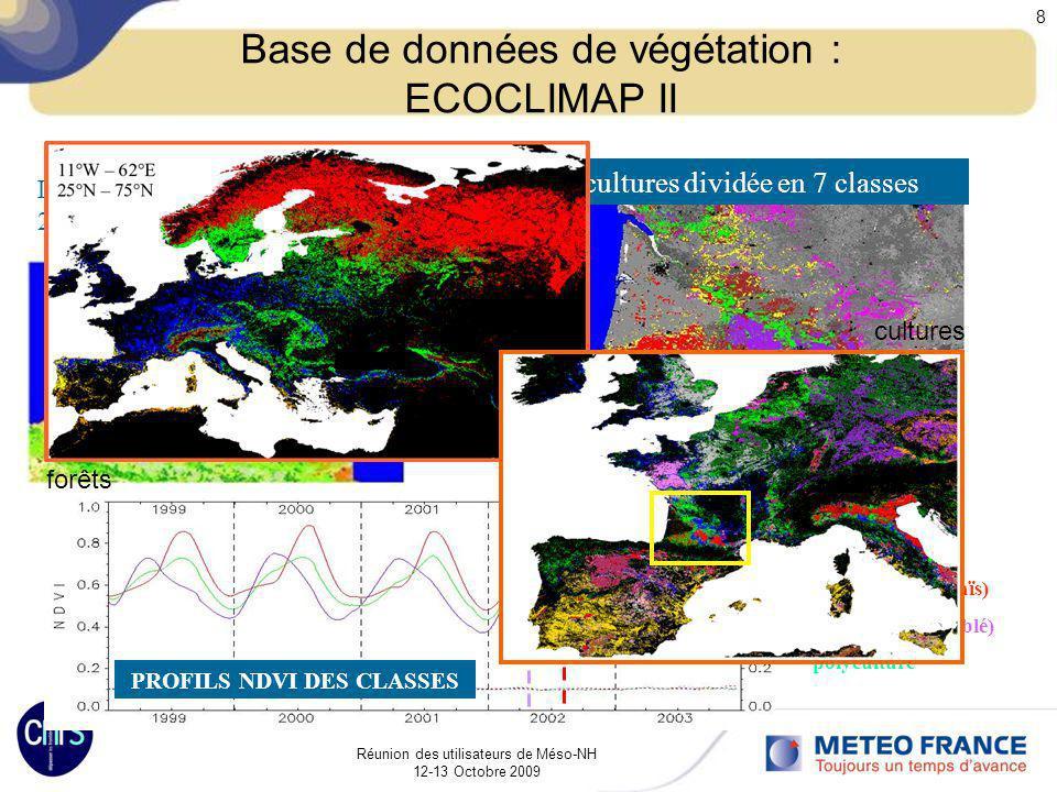 Base de données de végétation : ECOCLIMAP II