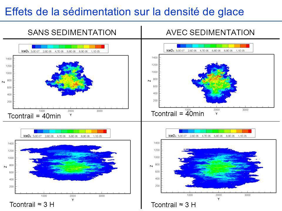 Effets de la sédimentation sur la densité de glace