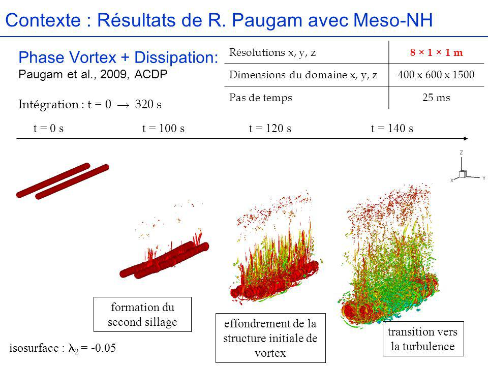 Contexte : Résultats de R. Paugam avec Meso-NH