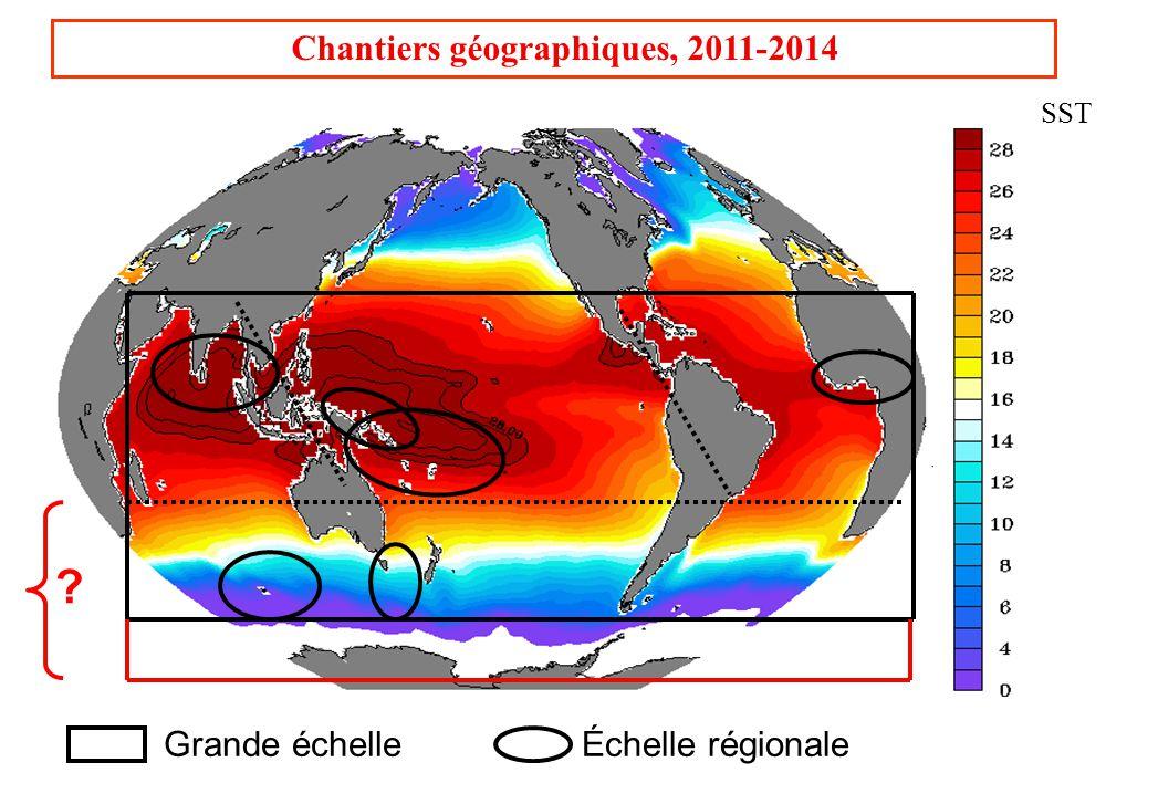 Chantiers géographiques, 2011-2014