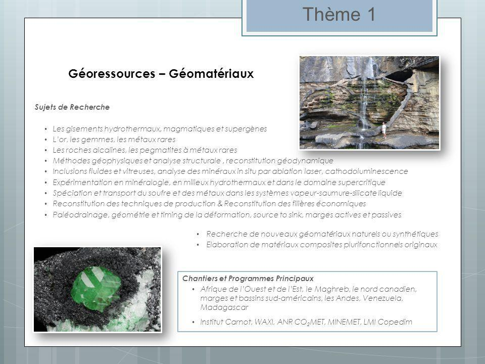 Géoressources – Géomatériaux
