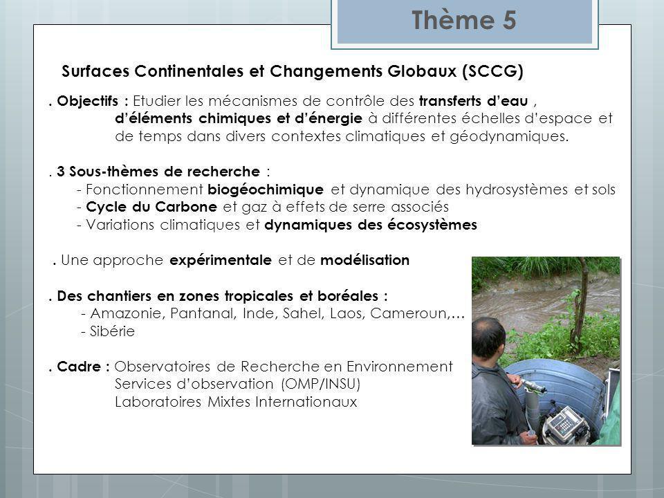 Surfaces Continentales et Changements Globaux (SCCG)