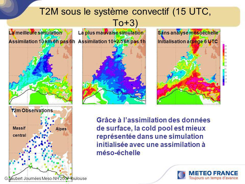 T2M sous le système convectif (15 UTC, To+3)