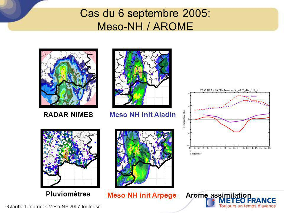 Cas du 6 septembre 2005: Meso-NH / AROME