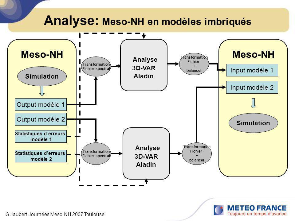 Analyse: Meso-NH en modèles imbriqués