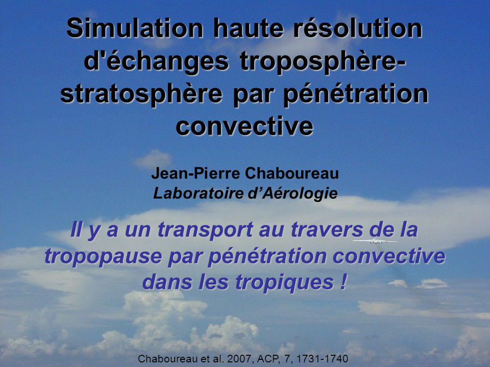 Jean-Pierre Chaboureau Laboratoire d'Aérologie