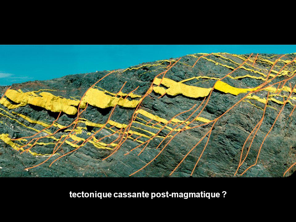 tectonique cassante post-magmatique