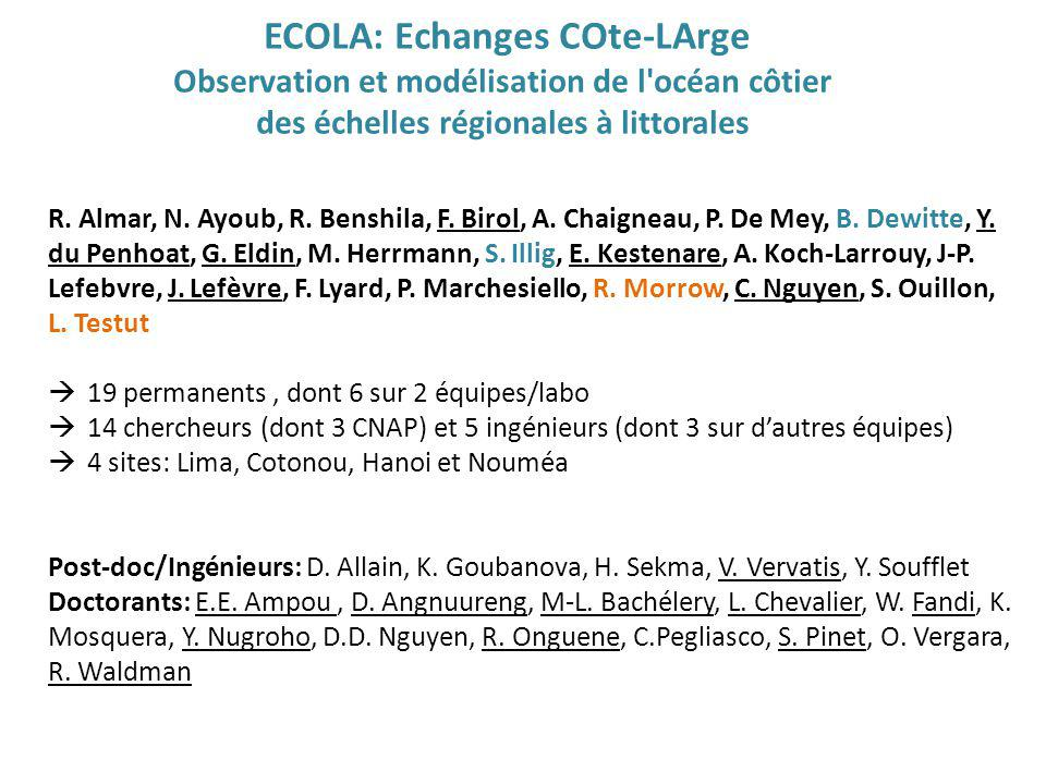 ECOLA: Echanges COte-LArge