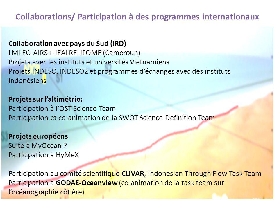 Collaborations/ Participation à des programmes internationaux