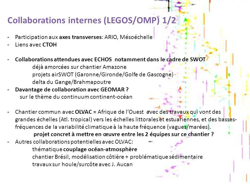 Collaborations internes (LEGOS/OMP) 1/2