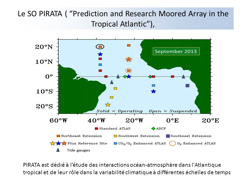 Le SO PIRATA ( Prediction and Research Moored Array in the Tropical Atlantic ),
