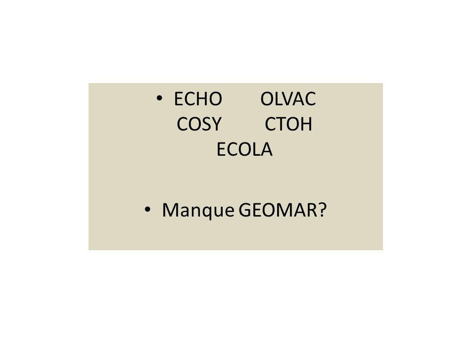 ECHO OLVAC COSY CTOH ECOLA