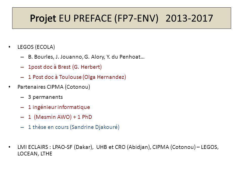 Projet EU PREFACE (FP7-ENV) 2013-2017