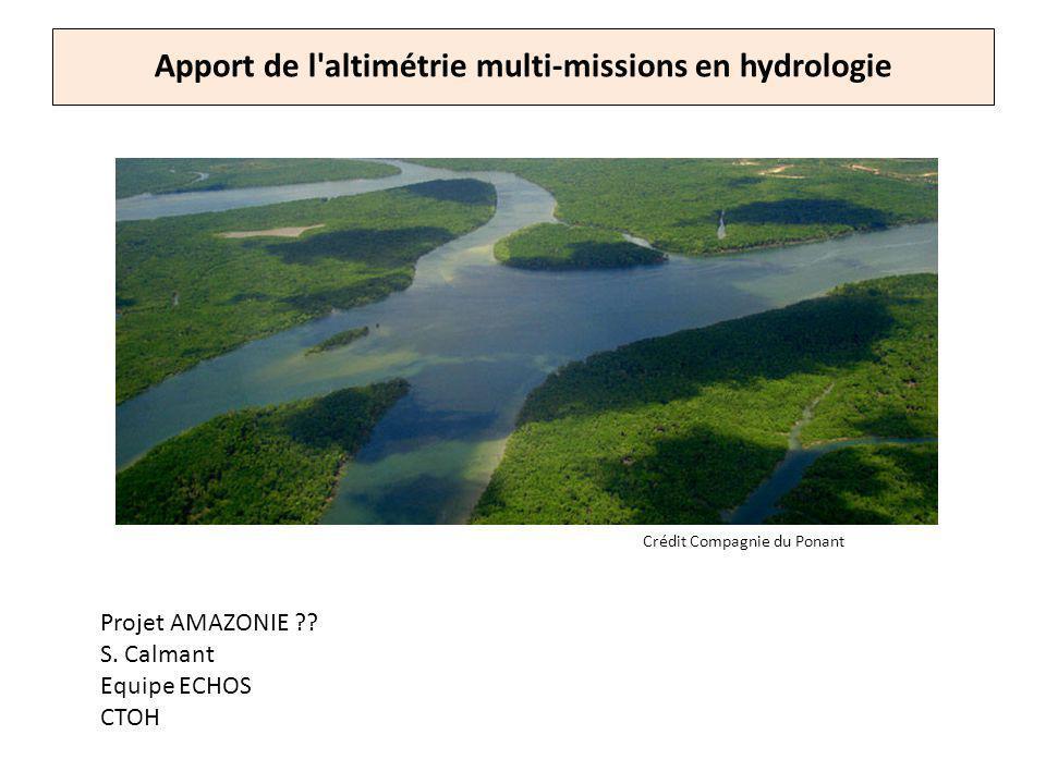 Apport de l altimétrie multi-missions en hydrologie