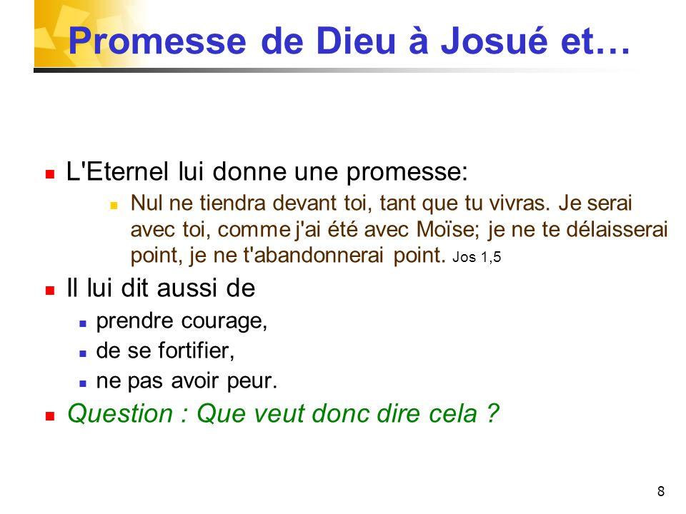 Promesse de Dieu à Josué et…