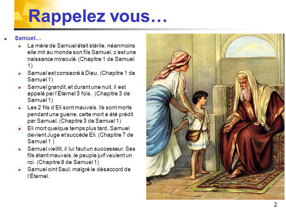 Rappelez vous… Samuel…