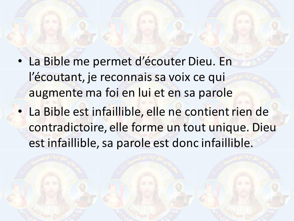 La Bible me permet d'écouter Dieu