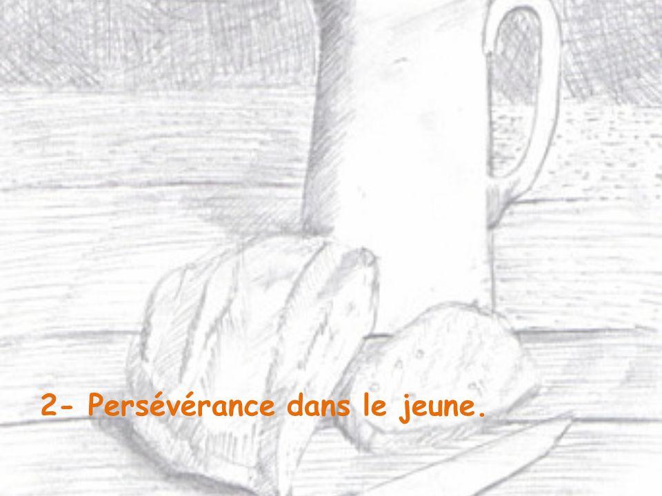 2- Persévérance dans le jeune.
