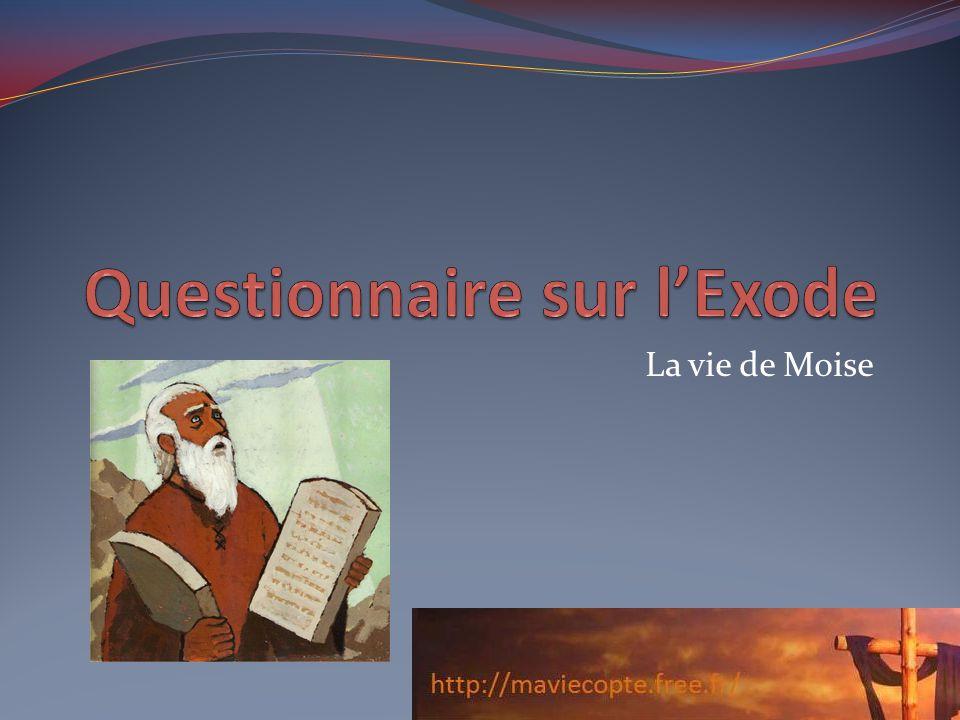 Questionnaire sur l'Exode