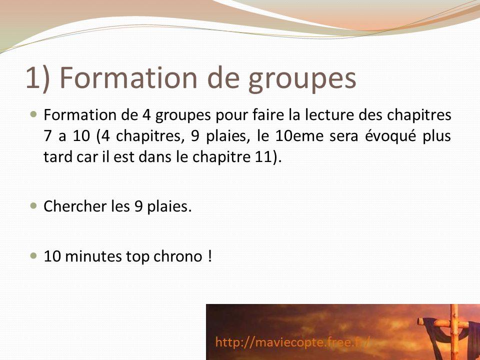 1) Formation de groupes