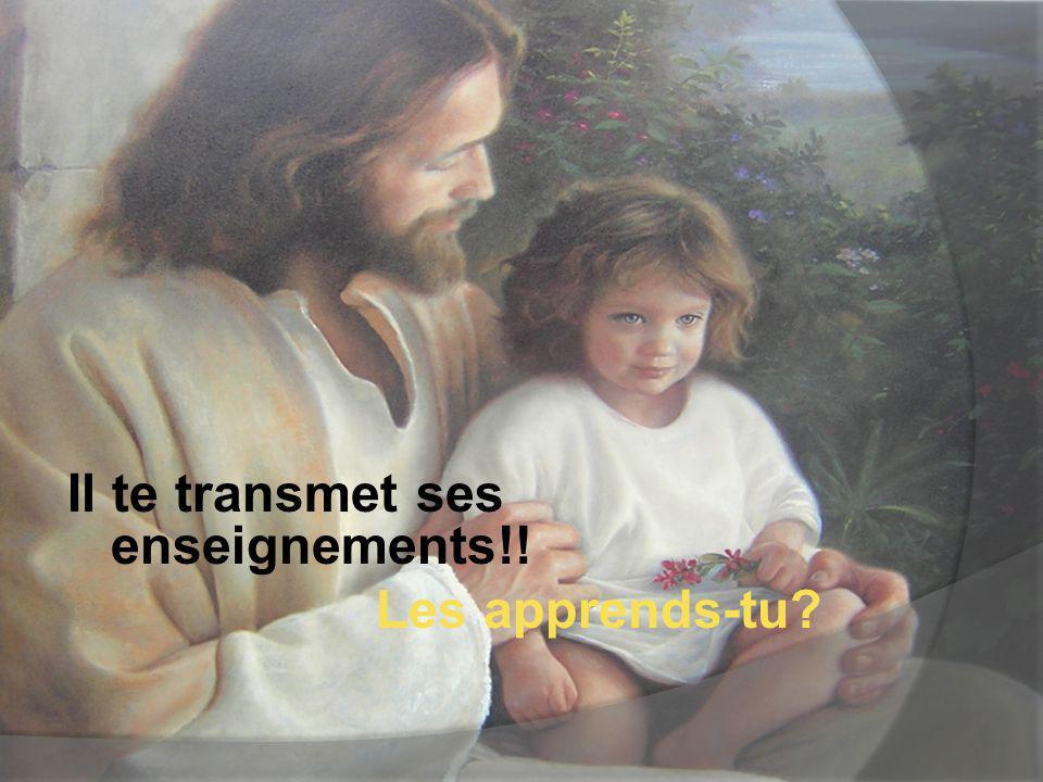 Il te transmet ses enseignements!!