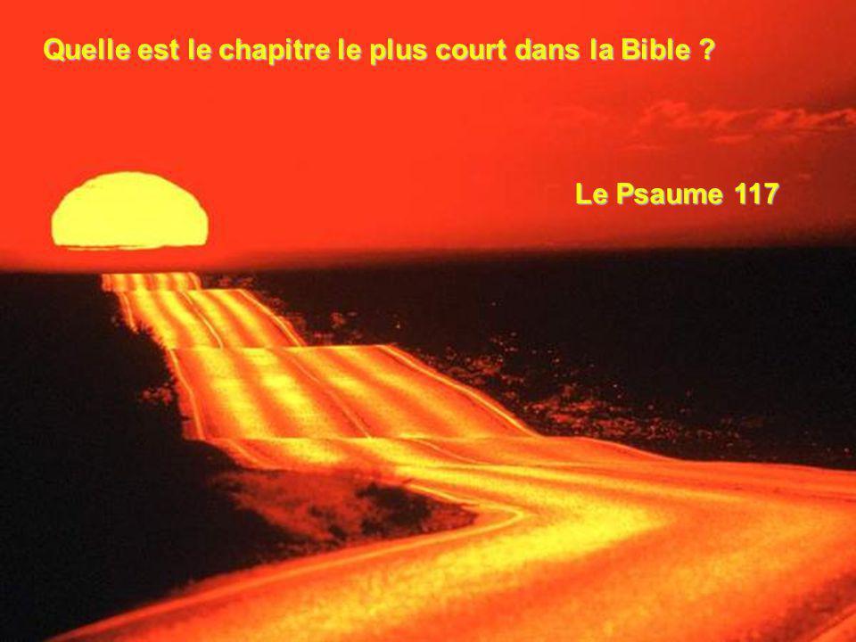 Quelle est le chapitre le plus court dans la Bible