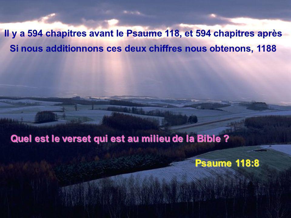 Quel est le verset qui est au milieu de la Bible