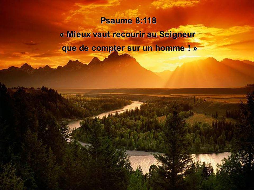 « Mieux vaut recourir au Seigneur que de compter sur un homme ! »