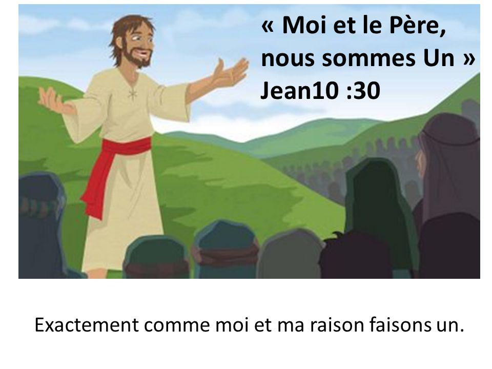 « Moi et le Père, nous sommes Un » Jean10 :30