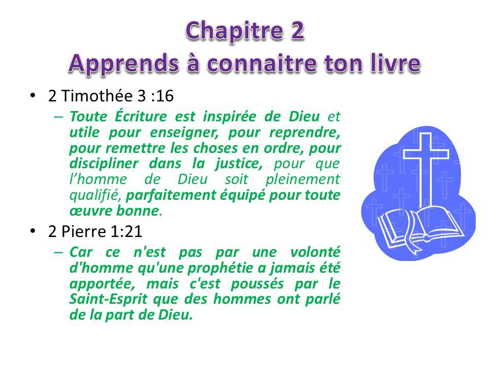 Chapitre 2 Apprends à connaitre ton livre