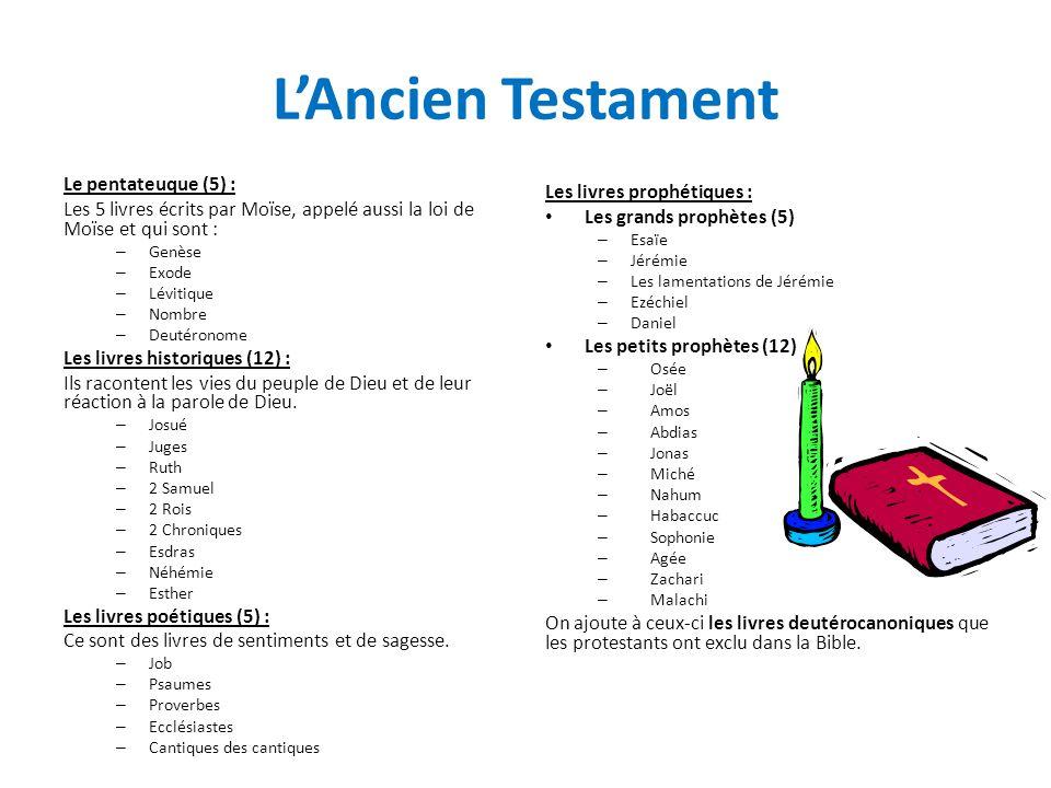 L'Ancien Testament Le pentateuque (5) :