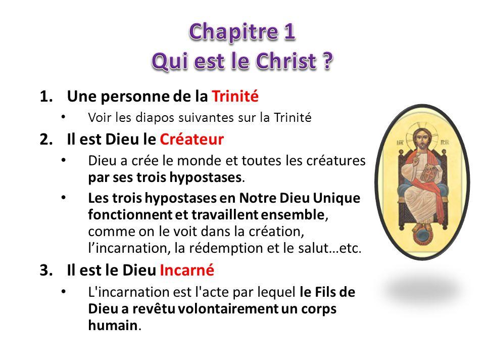 Chapitre 1 Qui est le Christ