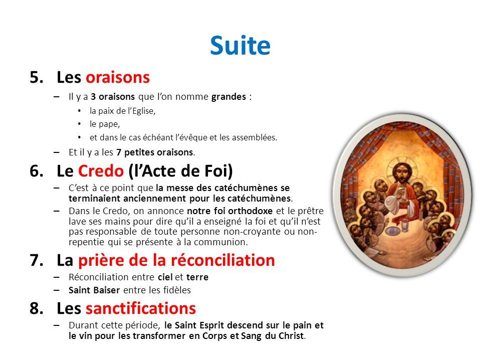 Suite Les oraisons Le Credo (l'Acte de Foi)