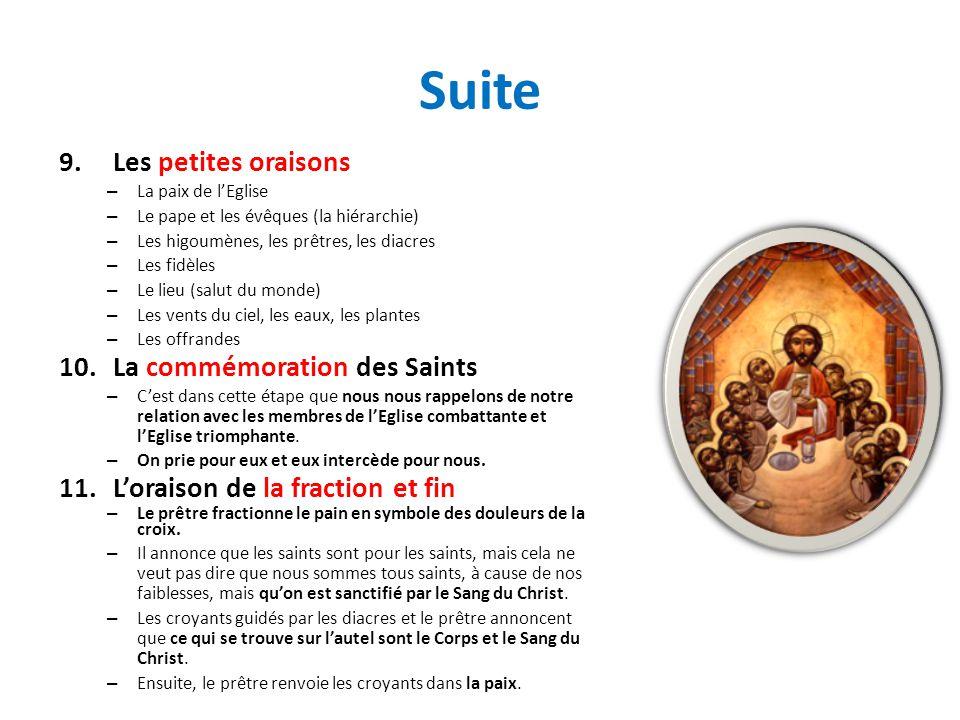 Suite Les petites oraisons La commémoration des Saints