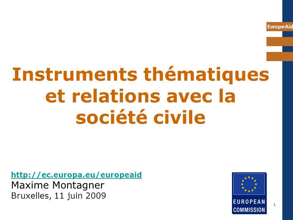 http://ec.europa.eu/europeaid Maxime Montagner Bruxelles, 11 juin 2009