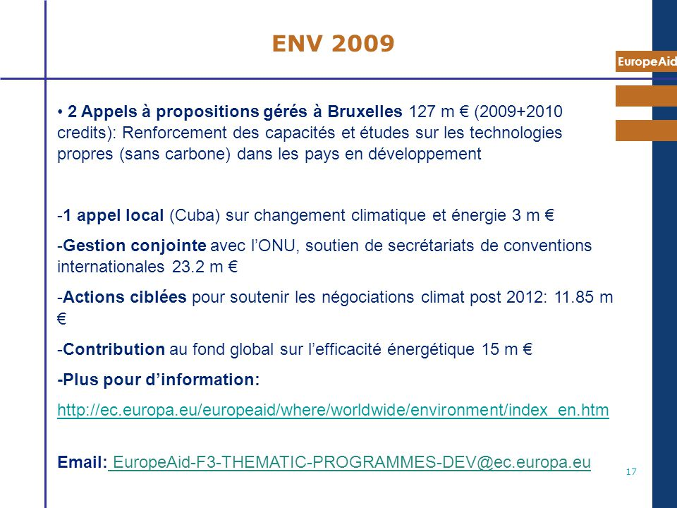 7 mai 2009 ENV 2009.