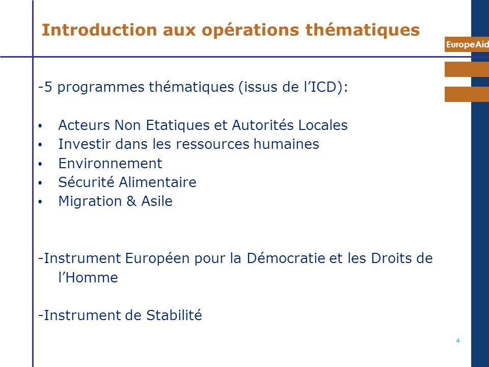 Introduction aux opérations thématiques