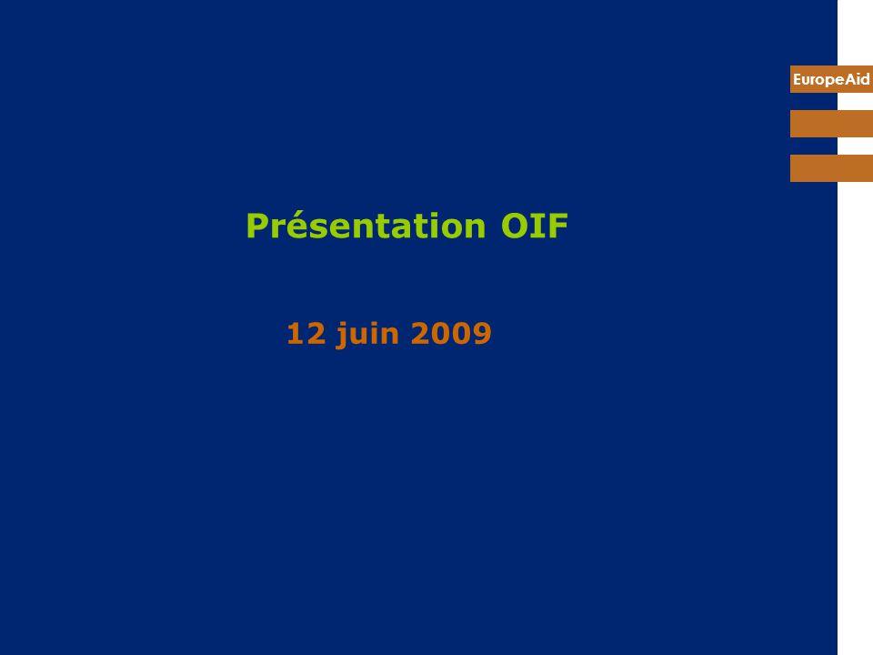 Présentation OIF 12 juin 2009