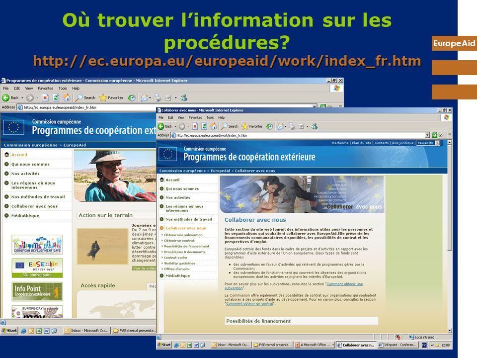 Où trouver l'information sur les procédures. http://ec. europa