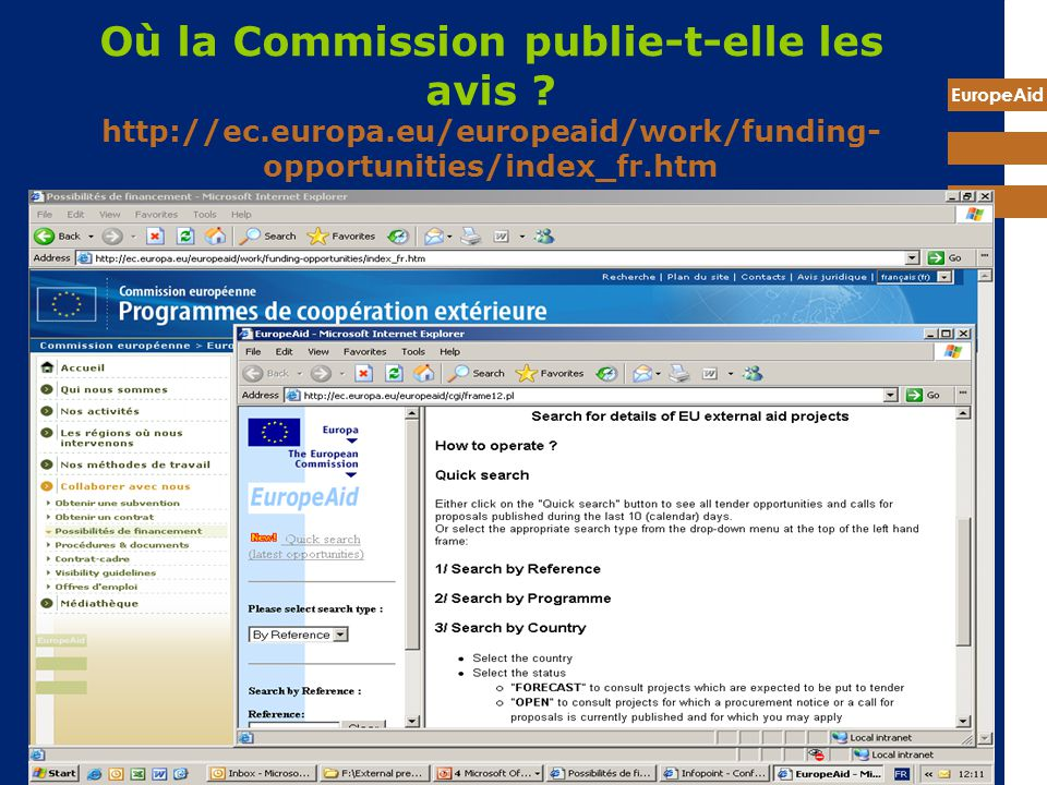Où la Commission publie-t-elle les avis. http://ec. europa