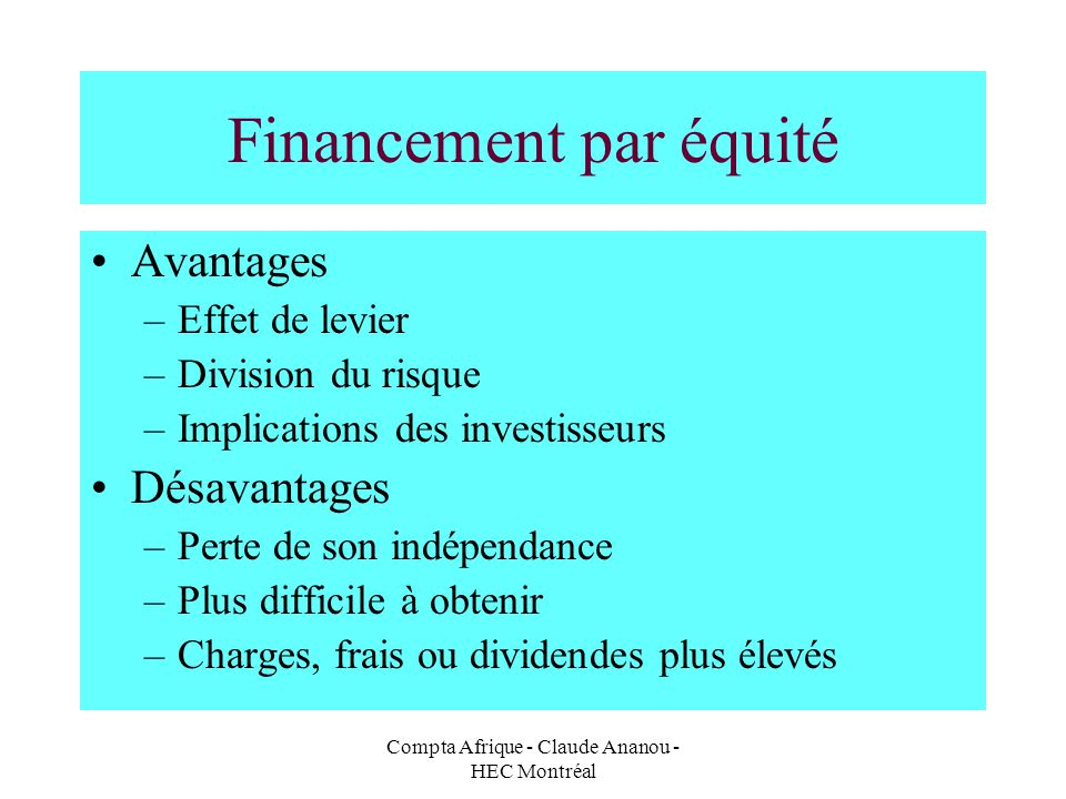 Financement par équité