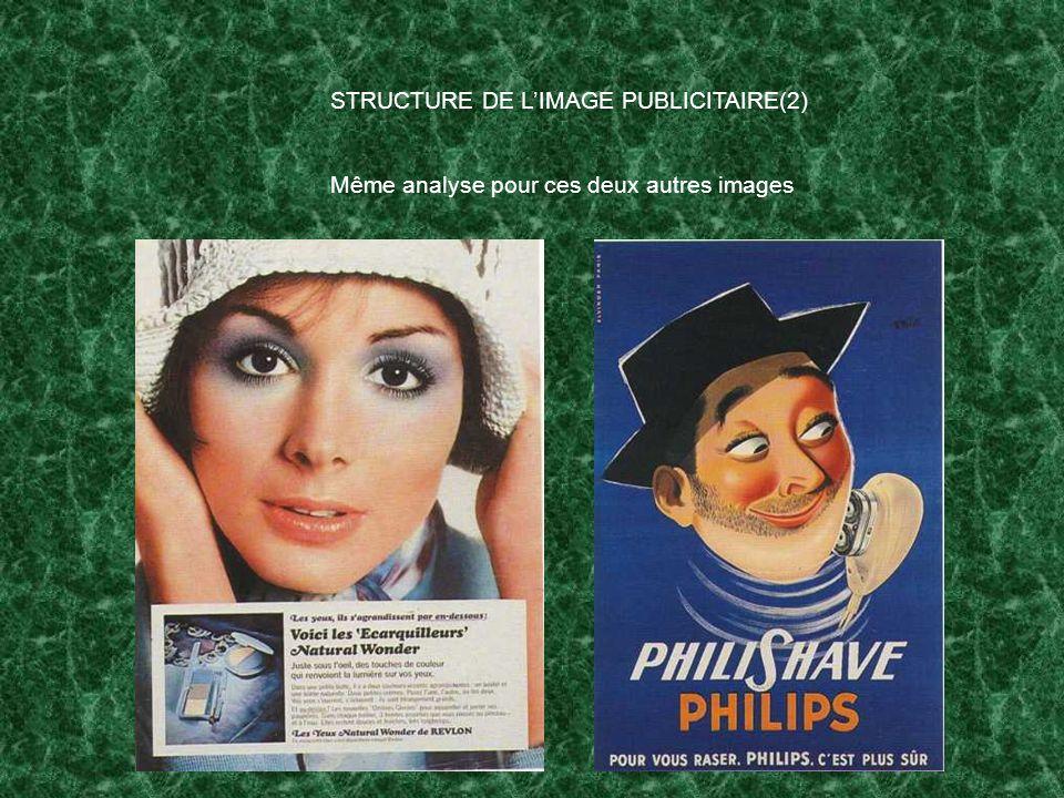 STRUCTURE DE L'IMAGE PUBLICITAIRE(2)