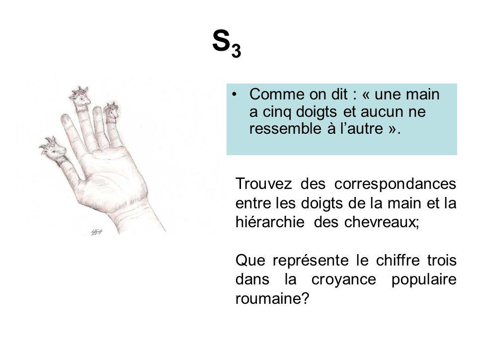 S3 Comme on dit : « une main a cinq doigts et aucun ne ressemble à l'autre ».