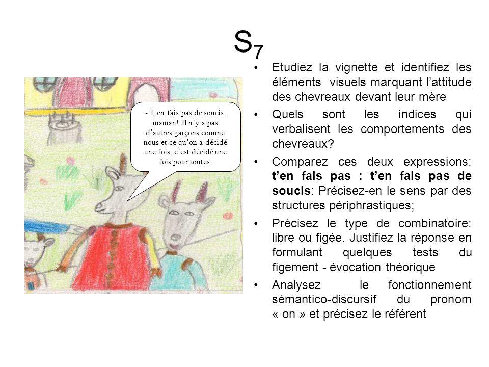 S7 Etudiez la vignette et identifiez les éléments visuels marquant l'attitude des chevreaux devant leur mère.