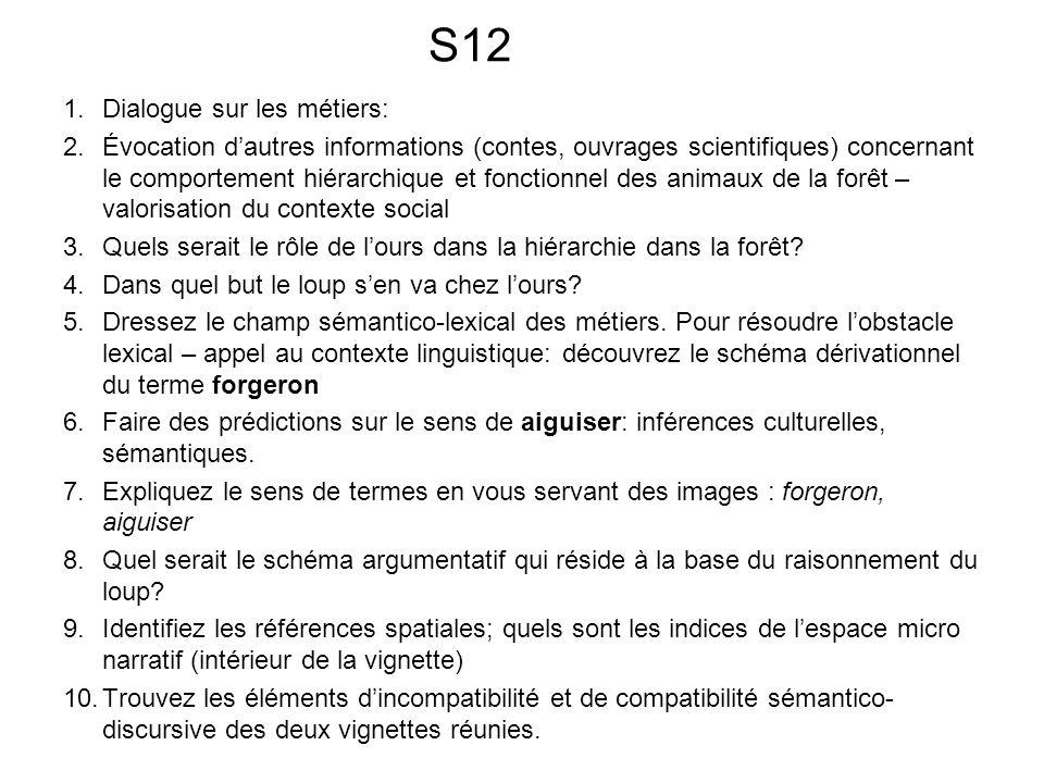 S12 Dialogue sur les métiers: