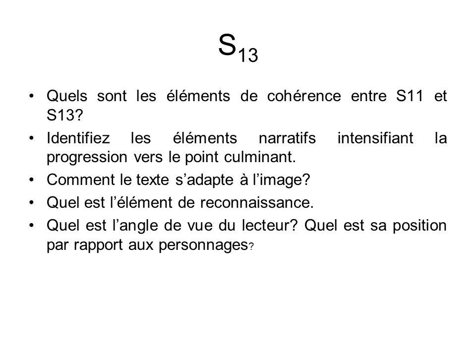 S13 Quels sont les éléments de cohérence entre S11 et S13