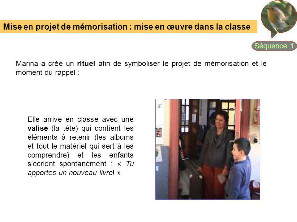 Mise en projet de mémorisation : mise en œuvre dans la classe