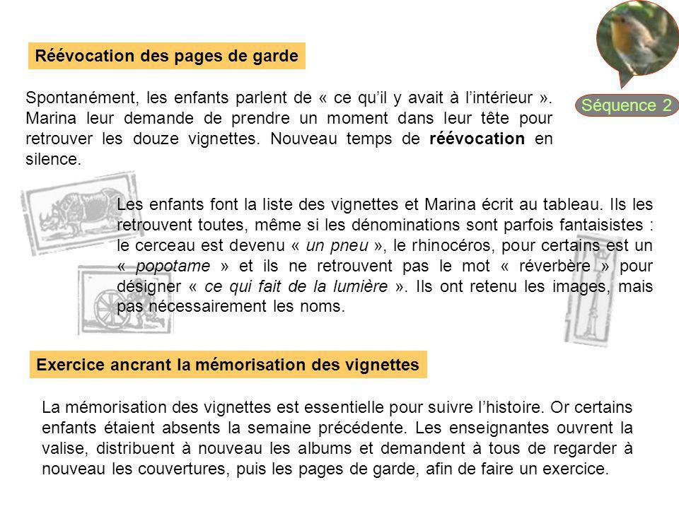 Séquence 2 Réévocation des pages de garde.