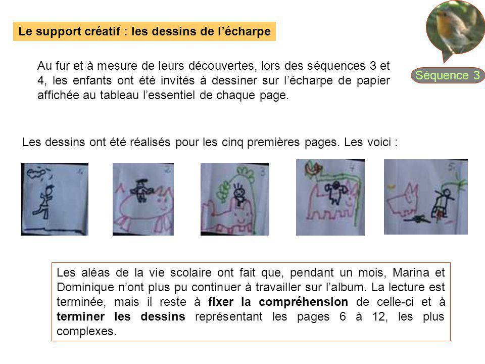 Séquence 3 Le support créatif : les dessins de l'écharpe.