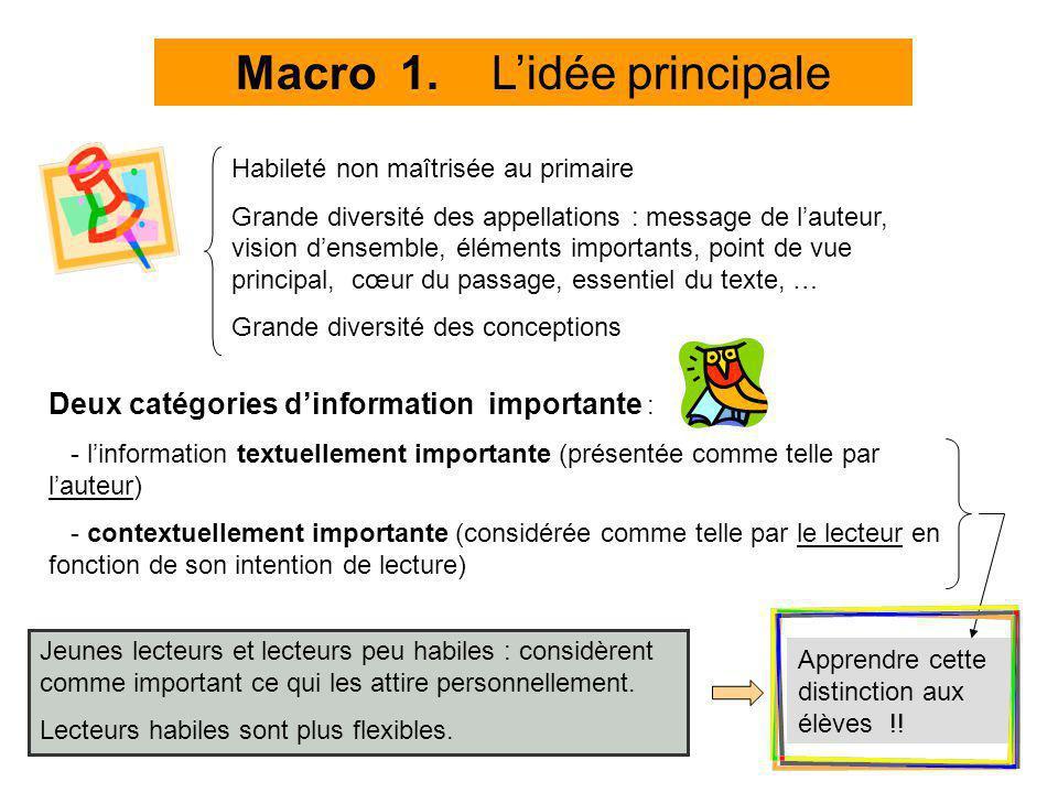Macro 1. L'idée principale